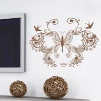 наклейка на стену Узор бабочка