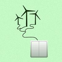 наклейки для розеток и выключателей Ветряной генератор
