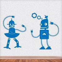 наклейка на стену Влюбленный робот