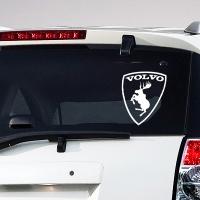 виниловая наклейка на авто Volvo Prancing Moos