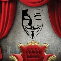 Виниловая наклейка Анонимус