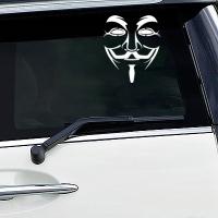 наклейка на авто Анонимус