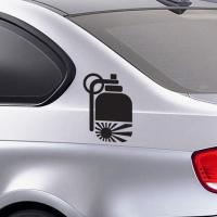 """Виниловая наклейка на авто """"Граната"""""""