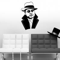 Виниловая наклейка Аль Капоне