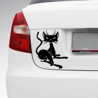 Виниловая наклейка на машину кошка
