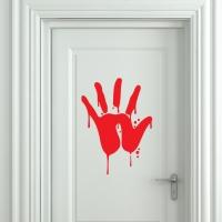Виниловая наклейка Кровавый след руки