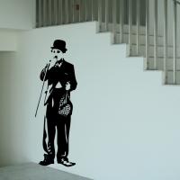 Виниловая наклейка Чаплин