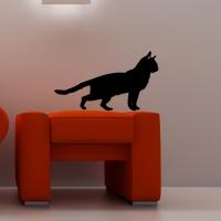 Виниловая наклейка кошка