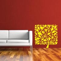 Стикер на стену Квадратное дерево