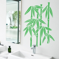 Виниловая наклейка ветка бамбука