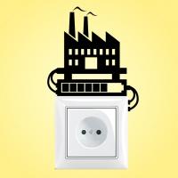 Виниловая наклейка на выключатель
