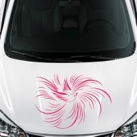 Виниловая наклейка на машину птичка
