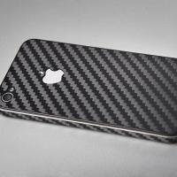 Наклейка на iPhone Чёрный карбон